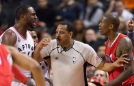 Patrick Patterson & Jamal Crawford get in a shoving match