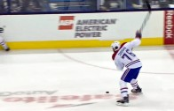PK Subban blasts home the slap shot from center ice
