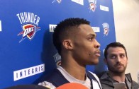 Russell Westbrook goes silent on Steph Curry's win prediction