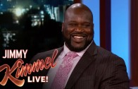 Shaq discusses the Blake Griffin incident with Jimmy Kimmel