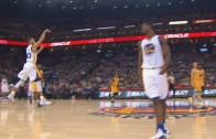 Steph Curry hits a half court buzzer beater vs. the Pacers