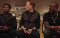 """Von Miller, Marshawn Lynch & Josh Norman play video game """"Doom"""" with Conan"""
