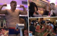 Raw Footage: Gunmen open fire killing one man at a boxing weigh in