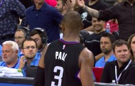 DeMarcus Cousins drills Chris Paul in the head with the ball