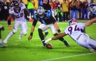 Did Cam Newton make a business decision not going for fumble?