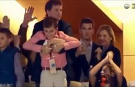 "Eli Manning with an ""interesting"" reaction to Peyton Manning winning"