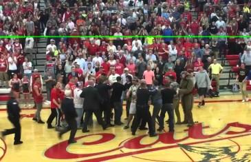 Idaho high school basketball fans & mascot come to blows