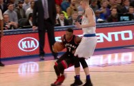 Kyle Lowry puts up 22 points, 11 rebounds & 11 assists on the Knicks