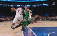 Marcus Smart with an epic flop on Carmelo Anthony