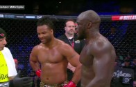MMA fighter accidentally backfists official post match