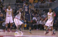 Paul George hits perhaps craziest shot of the year