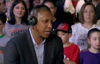 "Raptors GM Masai Ujiri plays ""lets make a trade"" with the Starters"