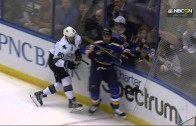St. Louis Blues' Ryan Reeves ejected after laying out a massive hit