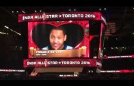 """Stephen Curry & Carmelo Anthony lip sync Adele's """"Hello"""""""