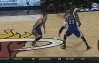 Stephen Curry hits the dagger 3 ball in Miami