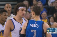 Anderson Varejao & Dwight Powell get into a confrontation