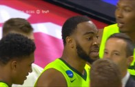 Baylor teammates Taurean Prince & Rico Gathers shove each other