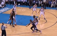 Did Chris Paul intentionally hit Kevin Durant in the groin?