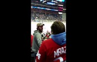 Fight breaks out between Red Wings & Blue Jackets fans