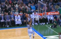 Greek Freak throws down the off the back board slam