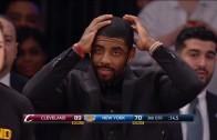 LeBron James gets a technical for eyeing down Amundson after slam