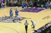 Rajon Rondo refuses to pick up the ball from a ref