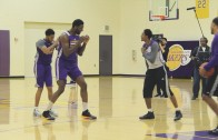 Roy Hibbert accidentally punches teammate Lou Williams