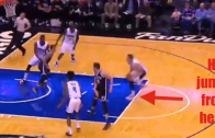 Aaron Gordon throws down the slam from the free throw line