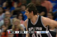 Spurs big man Boban Marjanovic throws it down on 3 guys