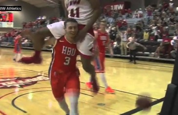 The Piggyback Dunk by Shawn Johnson of UIW