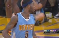 Will Barton throws down the powerful alley-oop slam