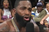 Adrien Broner calls out Floyd Mayweather to his face