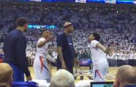 Russell Westbrook shoves Charlie Villanueva for interrupting his handshake