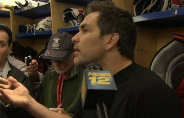 "Rangers defencemen Dan Boyle tells reporter to ""get the fuck out"""