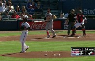Bryce Harper goes yard in his first at bat of the season