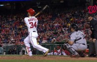 Bryce Harper hits towering home run to right field