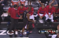 Chris Paul kicks bench after realizing he broke his hand