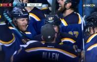 Crazy bounce ends Blackhawks & Blues OT battle in Game 1