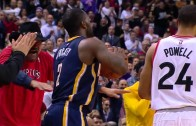 Drake claps in Rodney Stuckey's face after turnover