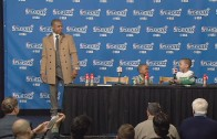 Isaiah Thomas' kids steal the show at his post game press conference