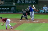 Cubs pitcher Jake Arrieta belts a massive two run homer