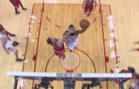 James Harden throws down the slam dunk on Pau Gasol