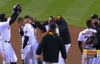 Jordy Mercer hits walk off hit for the Pirates in extra innings