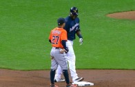 Jose Altuve tries to play the old hidden ball trick on Chris Carter