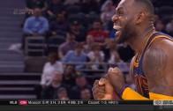 LeBron James ecstatic reaction after Kyrie Irving dagger 3-pointer