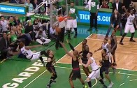 Marcus Smart with the GOAT flop