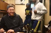 "Michigan football does the ""Running Man Challenge"""