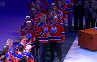 Oilers fans estatic over Wayne Gretzky honoring at Rexall Place