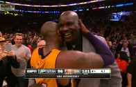 "Shaq calls Kobe Bryant a ""bad motherfucker"" after final game"