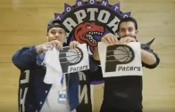 Raptors fans troll Indiana Pacers with Running Man Challenge